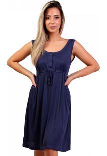 Camisola Mardelle Gestante Com 3 Botã•Es Marinho - Azul Marinho - Feminino - Dafiti