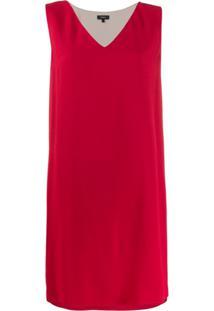 Theory V-Neck Dress - Vermelho