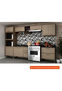 Cozinha Compacta Vitória I 9 Pt 5 Gv Capuccino E Avelã