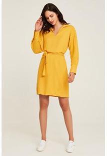 Vestido Rubinella Faixa Detalhe Ombro - Feminino-Amarelo