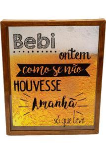 Quadro Porta Tampinhas E Lacres Prolab Cerveja Amanh㣠Tabaco - Amarelo/Branco/Marrom/Preto - Dafiti