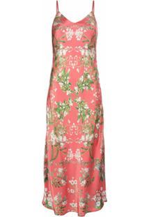 Madison.Maison Vestido Louise De Seda Floral - Rosa