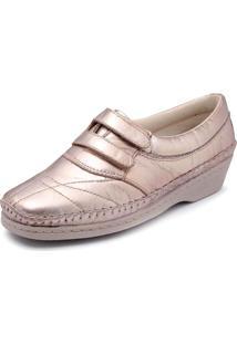 Sapato Feminino Torani Comfort Dourado - Kanui