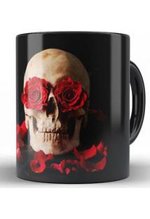 Caneca Skull Roses