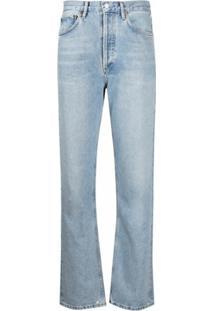 Agolde Calça Jeans Reta Cintura Média - Azul