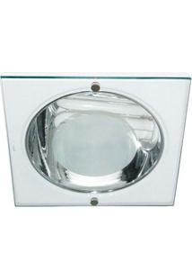 Luminária De Embutir Quadrada Para 1 Lâmpada 20W 16,8X16,8Cm Branca Bonin