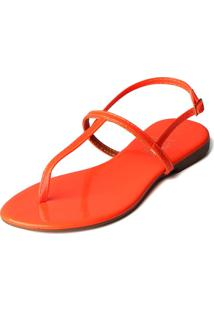 Rasteira Trivalle Shoes Laranja Neon