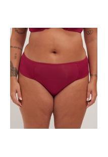Calcinha Alta Poliamida Liso Curve E Plus Size Vermelho