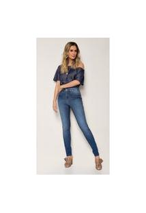Calça Jeans Zait Flare Jordana Azul Marinho