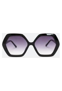 Óculos De Sol Feminino Modelo Quadrado | Accessories | Preto | U