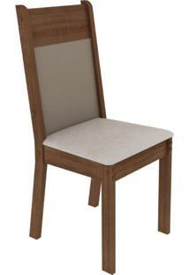 Kit 2 Cadeiras 4280 Madesa Rustic/Crema/Pérola