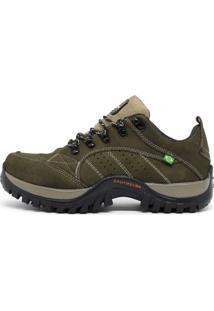 Bota Couro Bell-Boots Adventure Verde Militar