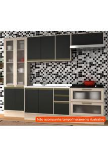 Cozinha Compacta Safira 10 Pt 5 Gv Preta E Creme
