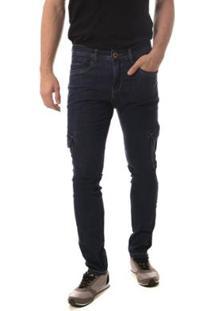 Calça Jeans Osmoze Skinny Masculina - Masculino-Azul