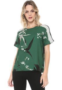 Camiseta Forum Floral Verde/Preta