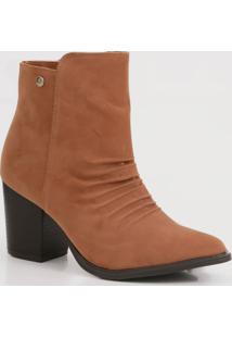 Bota Feminina Ankle Boot Bico Fino Via Uno