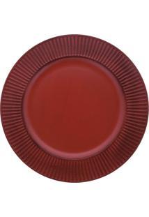 Sousplat Mimo Style Listras Vermelho