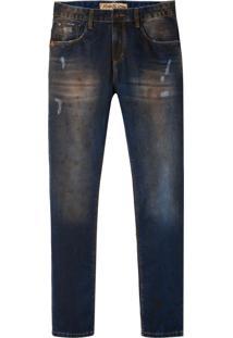 Calça John John Slim Cambridge 3D Jeans Azul Masculina (Jeans Escuro, 42)