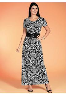 Vestido Longo Arabescos Moda Evangélica