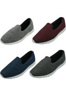 Kit 4 Pares Tênis Confort Sand Shoes