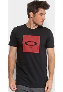 Camiseta Oakley Mod Bolded Elipse Masculina - Masculino-Preto
