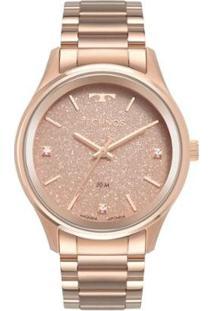 Relógio Technos Dress 40Mm Aço Feminino - Feminino-Rosê