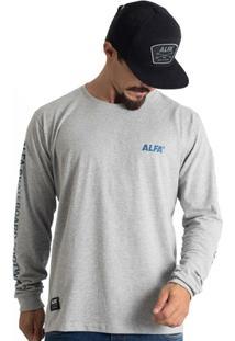 Camiseta Alfa Manga Longa Foot - Masculino