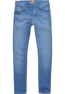 Calça West Coast Jeans Sl Fit Destroyed Wash Indigo Claro