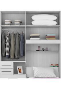 Dormitório De Solteiro Sem Cama 1225 Ilan Branco