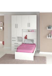 Dormitório De Solteiro Sem Cama 1225S Branco
