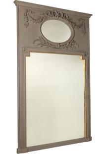 Espelho Decorativo Clássico Compiegne De Parede Com Moldura De...