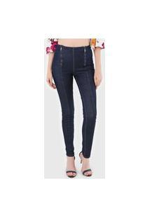 Calça Jeans Lez A Lez Skinny Pespontos Azul