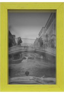 Porta-Retrato Caixa Color Amarelo 15X21Cm