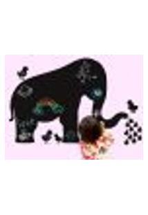 Adesivo De Lousa Para Parede Elefante - G 50X76Cm
