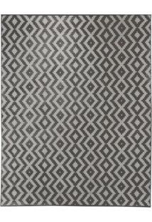 Tapete Ambiance Retangular Poliéster (300X400) Cinza