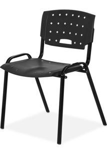 Cadeira Plastica Fit Preto Giobel - Preto - Dafiti