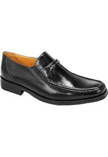 Sapato Social Masculino Side Gore Sandro Moscoloni Harvey Preto