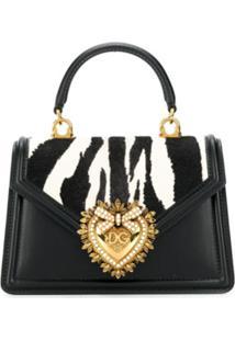 Dolce & Gabbana Bolsa Tote Devotion Pequena - Preto