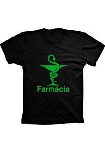 Camiseta Baby Look Lu Geek Farmácia Preto