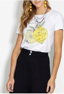 Blusa Quintess Lemon Branca
