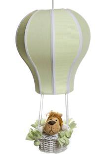 Lustre Balão Cintura Floresta Quarto Bebê Infantil Menina Menino Potinho De Mel Verde