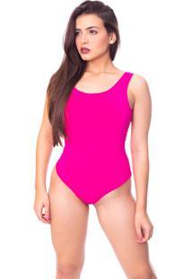 Body Moda Vicio Regata Com Bojo Decote Costas Com Elastico Pink