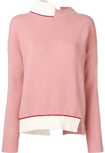 Marni Suéter Com Abertura Posterior - Rosa