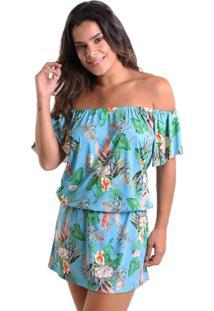 047a5b7b1b Vestido Flor Poliamida feminino