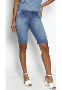 Bermuda Jeans Estonada - AzulãŠNfase