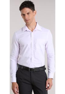 Camisa Comfort Texturizada Rosa Claro