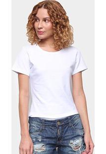 Camiseta Coca Cola Coke Jeans Básica Feminina - Feminino-Branco