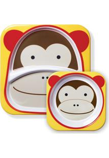 Conjunto De Prato E Tigela - Zoo - Macaco - Skip Hop