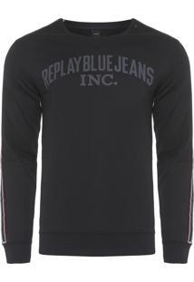 Blusa Masculina Blue Jeans Band - Preto