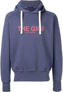 The Gigi Moletom Com Estampa De Logo - Azul